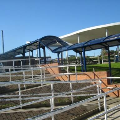 Barrel Roof Covered Walkway