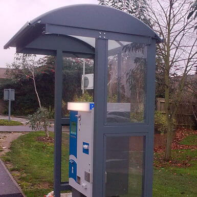 Barrel Ticket Machine Shelter