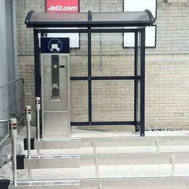 2 Bay Barrel Ticket Machine Shelter
