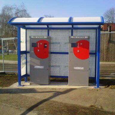 3 Bay Barrel Ticket Machine Shelter