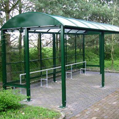 3 Bay HD Barrel Roof Smoking Shelter