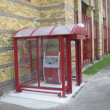 HD Ticket Machine Shelter enclosed with lockable roller shutter door