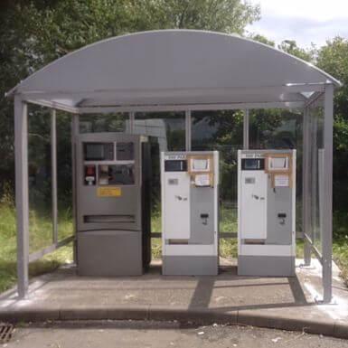 4 Bay HD Ticket Machine Shelter