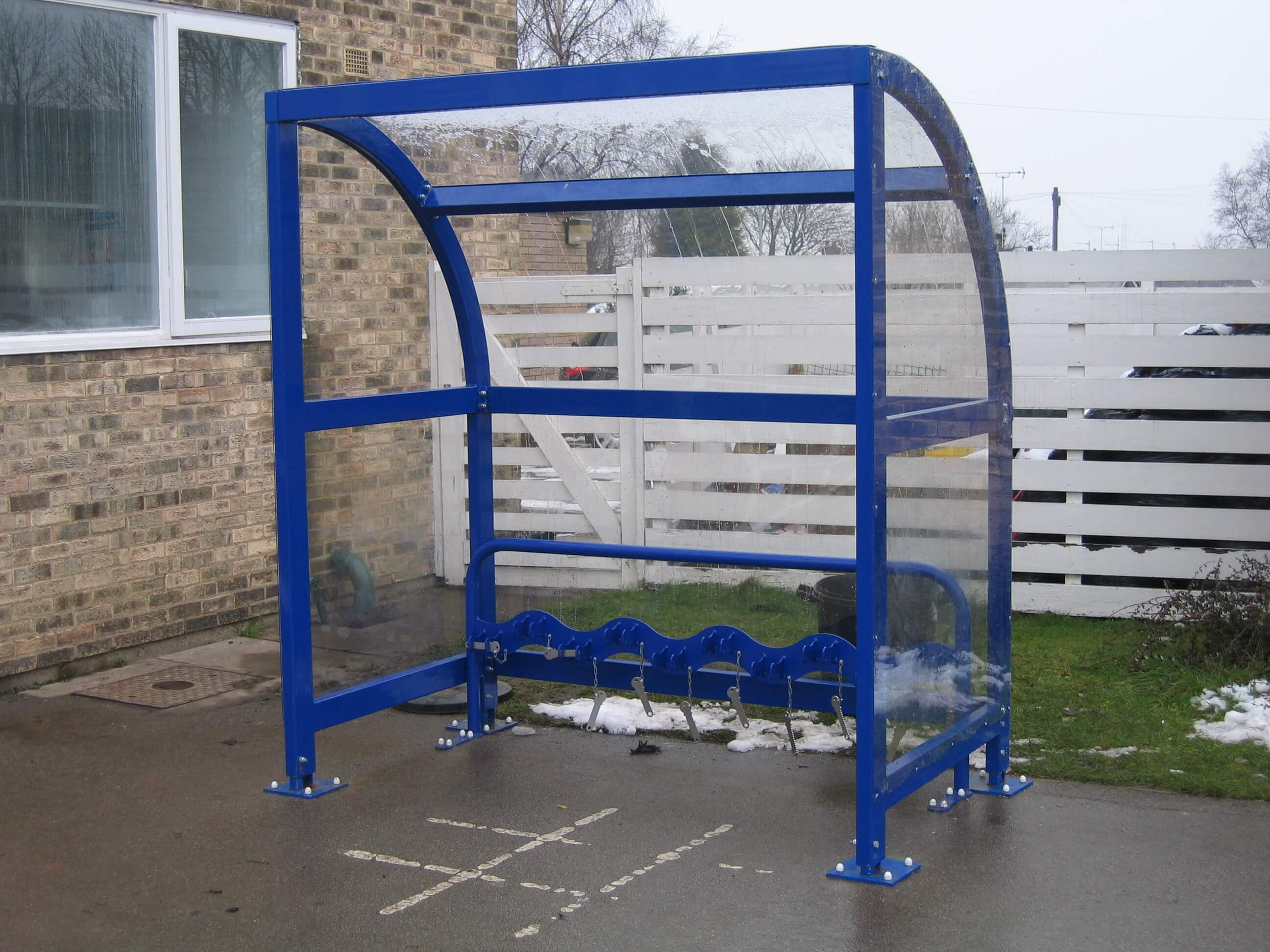 Scooter Rack with Shelter