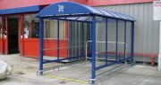 STANDARD HD TROLLEY SHELTER WITH BUMP RAILS, LOGO & RUMBLE STRIP