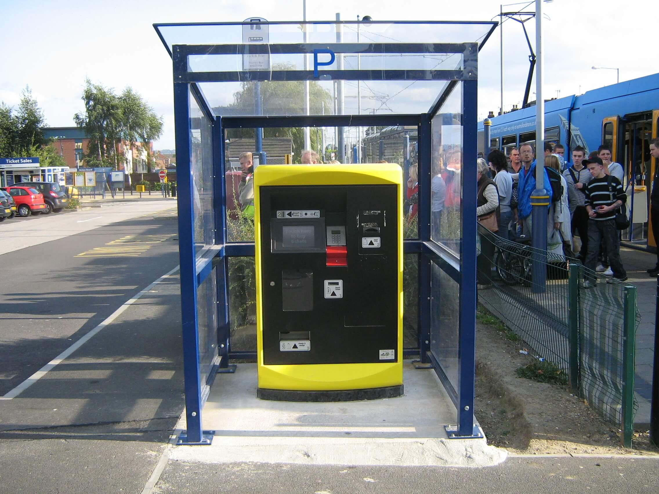 Mono Pitch Ticket Machine Shelter