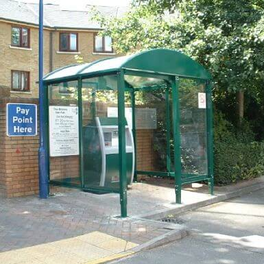 HD Ticket Machine Shelter enclosed