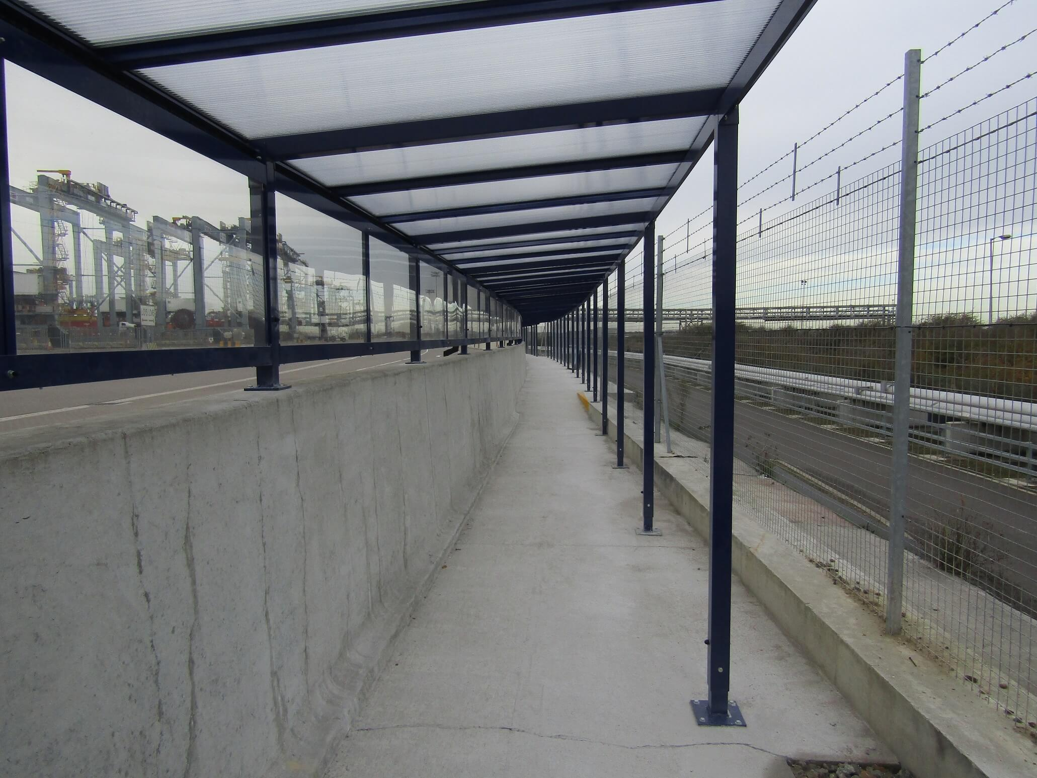 Mono Pitched Covered Walkway Ace Shelters
