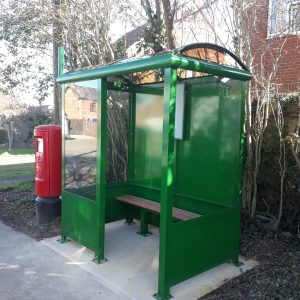 2 Bay Heritage Enclosed Bus Shelter