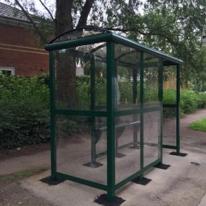 3 Bay Heritage Staggered Entry Bus Shelter