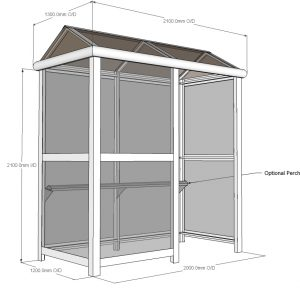 2 Bay Harrogate Enclosed Bus Shelter