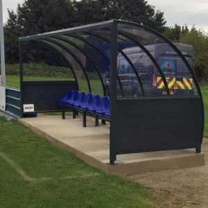 6mtr x 1.7mtr Dug Out with plastic seating