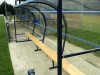 Pitchside Sports Shelter with Bench seating