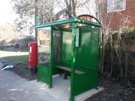 2 Bay Heritage Enclosed Bus Shelter