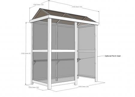 2 Bay Harrogate Enclosed Bus Shelter